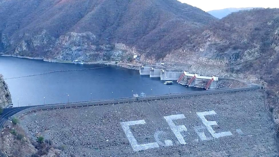 La hidroeléctrica de Infiernillo
