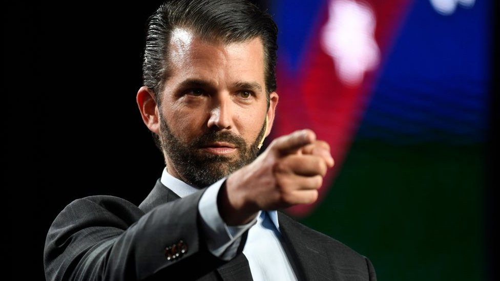Donald Trump Jr. speaks at the Western Conservative Summit at the Colorado Convention Center July 12, 2019