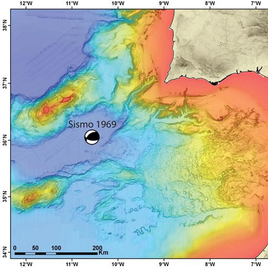 Mapa del sismo de 1969
