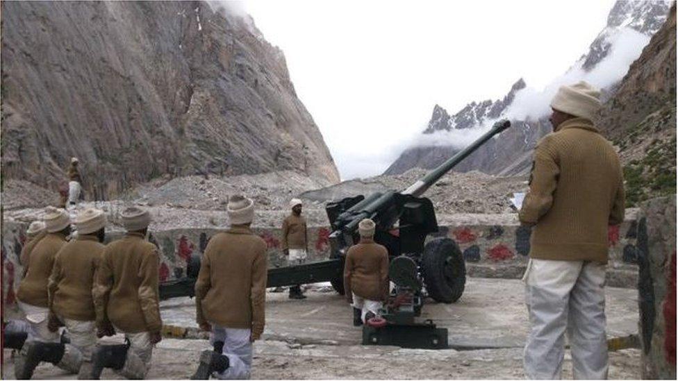 駐守冰川的巴基斯坦士兵(資料圖片)