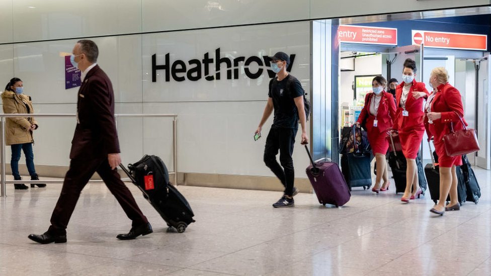 Arrivals at Heathrow