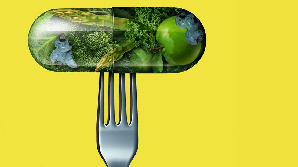 Píldora de vegetales