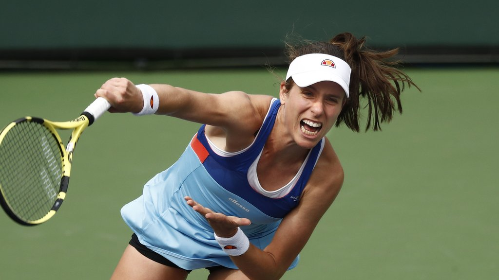 Indian Wells: British number one Johanna Konta beaten by Kiki Bertens at BNP Paribas Open