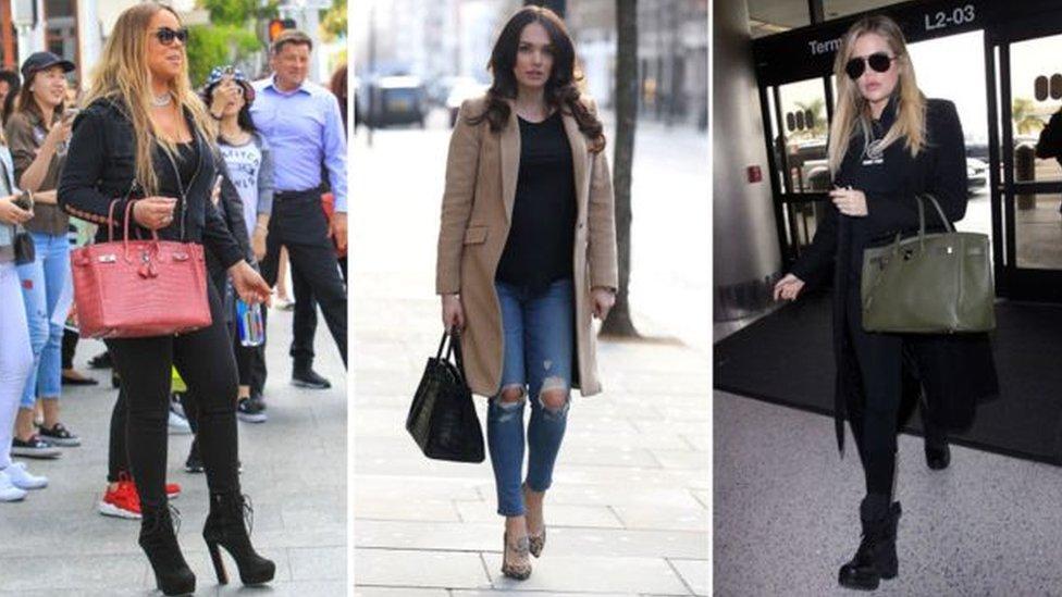 Mariah Carey, Tamara Ecclestone ve Khloe Kardashian Birkin modeli hayranlarından
