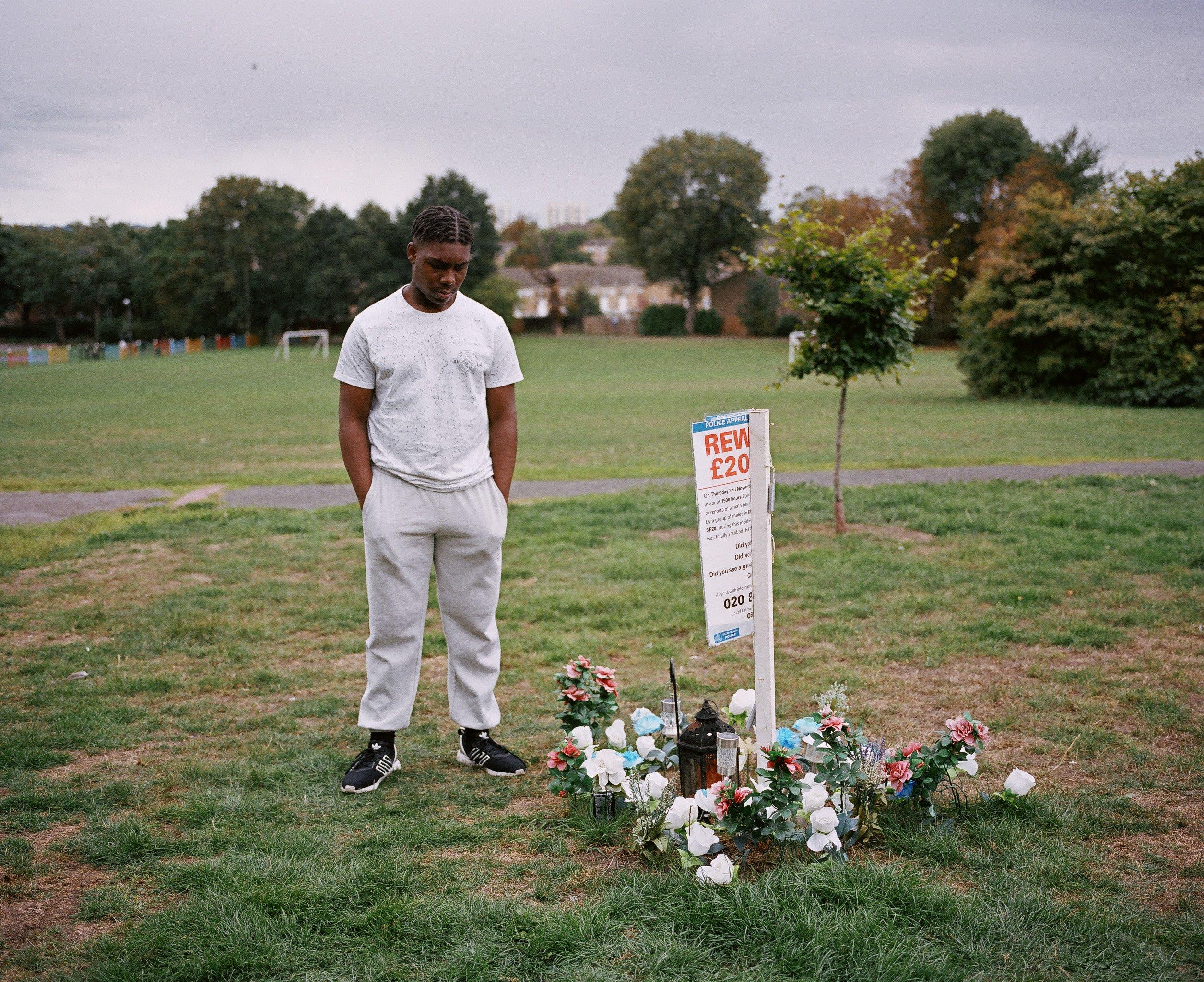 Jhemar near the spot where Michael died