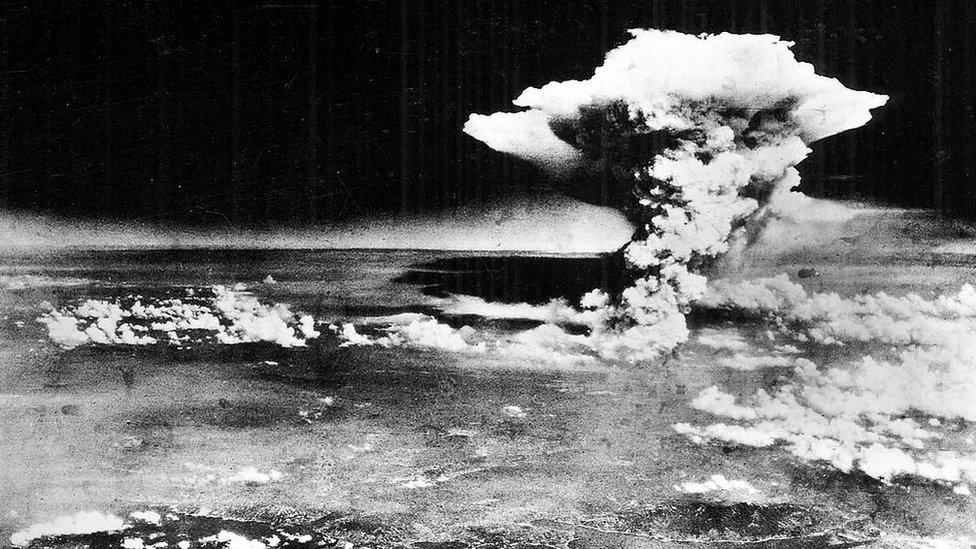 La bomba atómica sobre Hiroshima