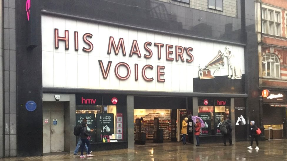 HMV store in Oxford Street, London, on its last day of trading in February 2019