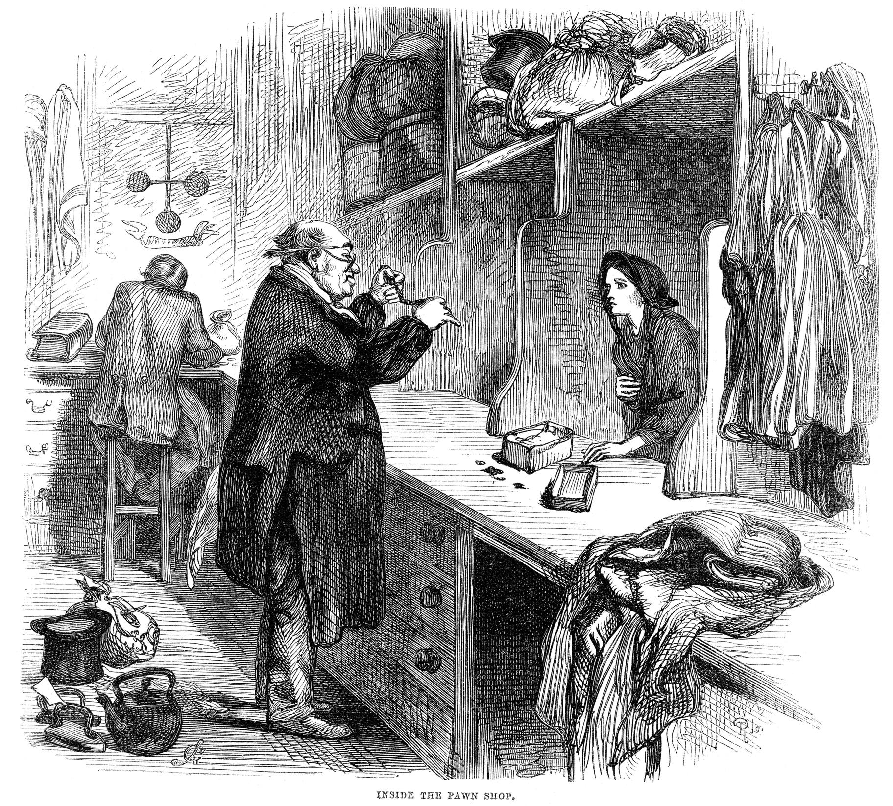 En la historia encontramos cuentos recurrentes sobre deudores que se vengan de usureros que fueron demasiado lejos.