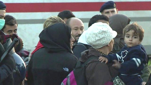 Arrivals on Croatia's border with Slovenia