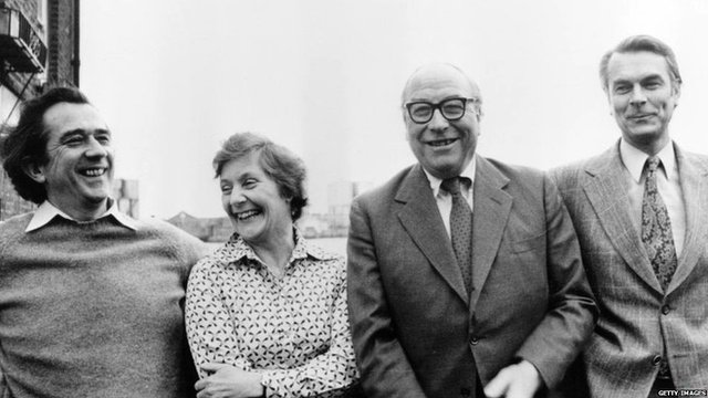 Bill Rogers, Shirley Williams, Roy Jenkins and David Owen in 1981