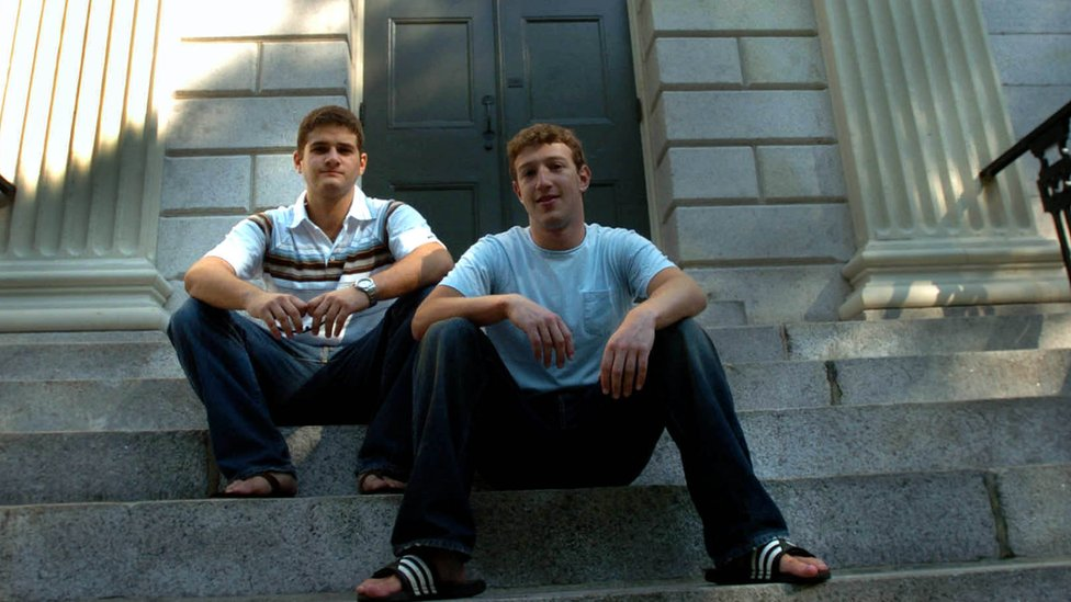 Mark Zuckerberg y Dustin Moscovitz en 2004