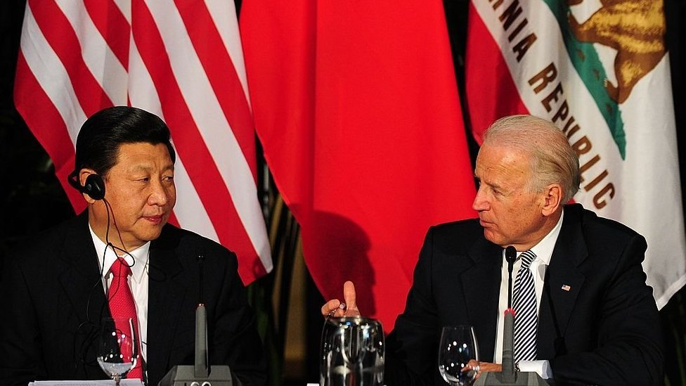 Chinese premier Xi Jinping and Joe Biden