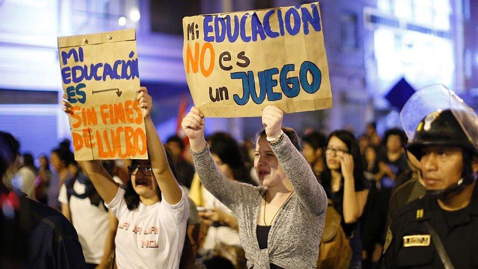 Protesta estudiantil en Perú, 12 de diciembre de 2016