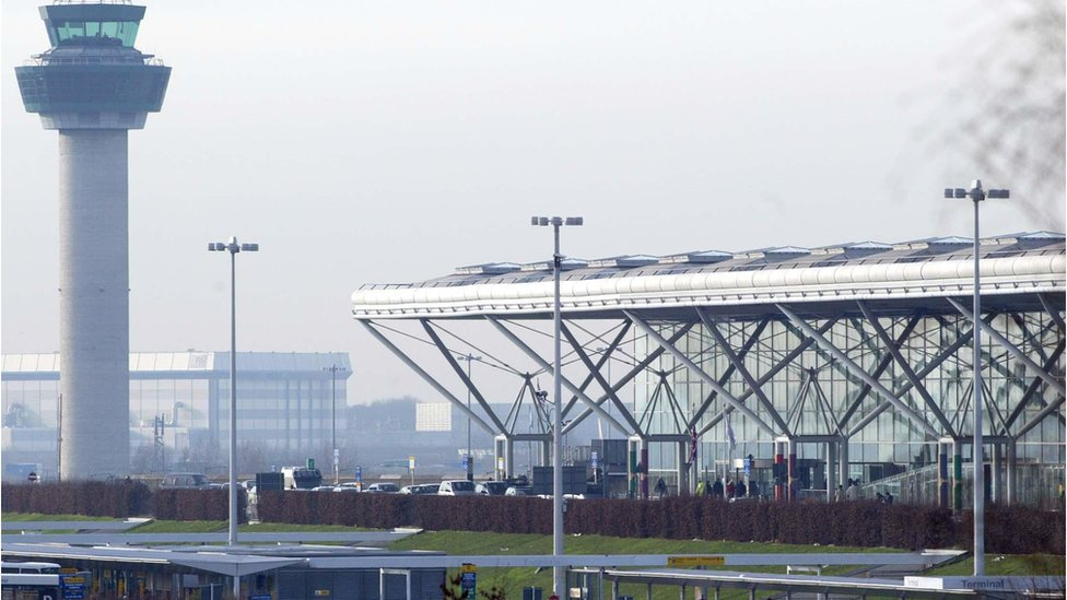 Stansted Airport: Drone 'missed landing plane by 15m'