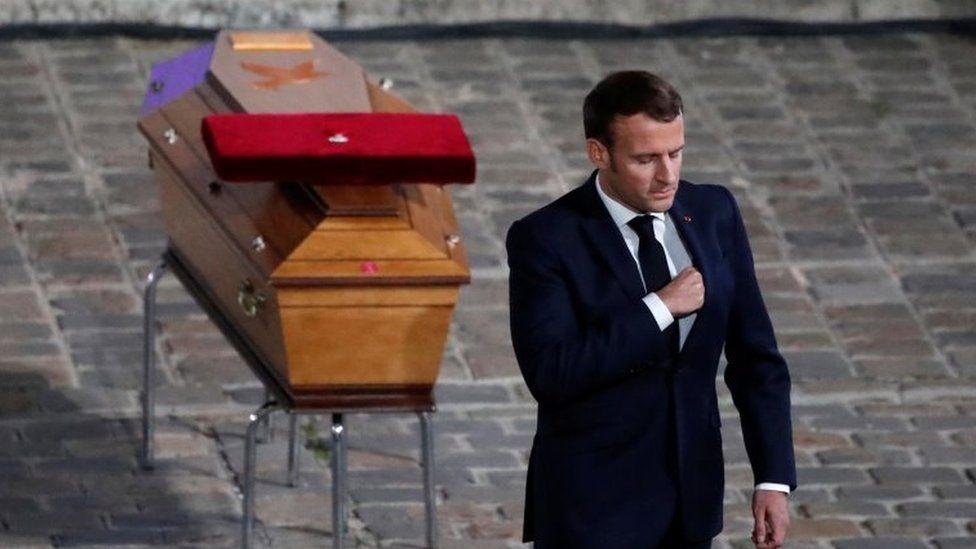 Macron, Samuel Paty