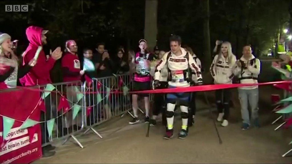 Simon Kindleysides: London Marathon man gets robotic legs