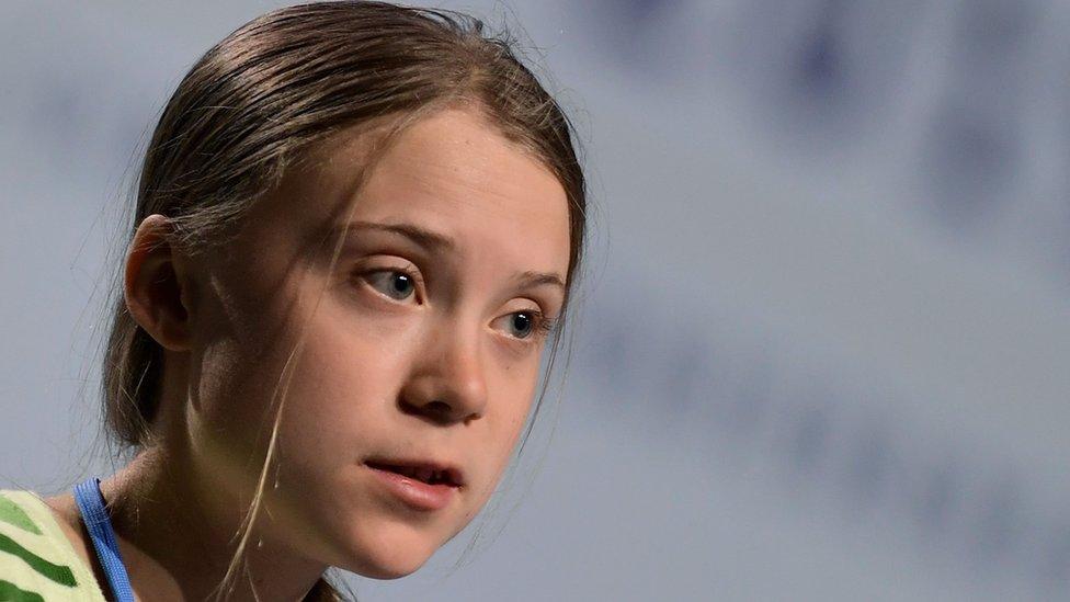 Greta Thunberg habla en la conferencia del cambio climático de la ONU el martes.