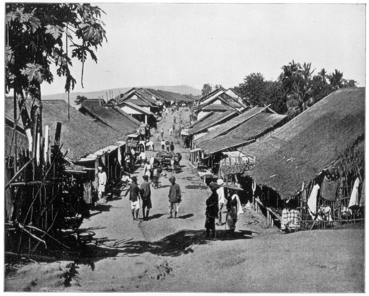 Wioski takie jak ta w Kalkucie, zdjęcia z lat 90. XIX wieku, były pełne cholery
