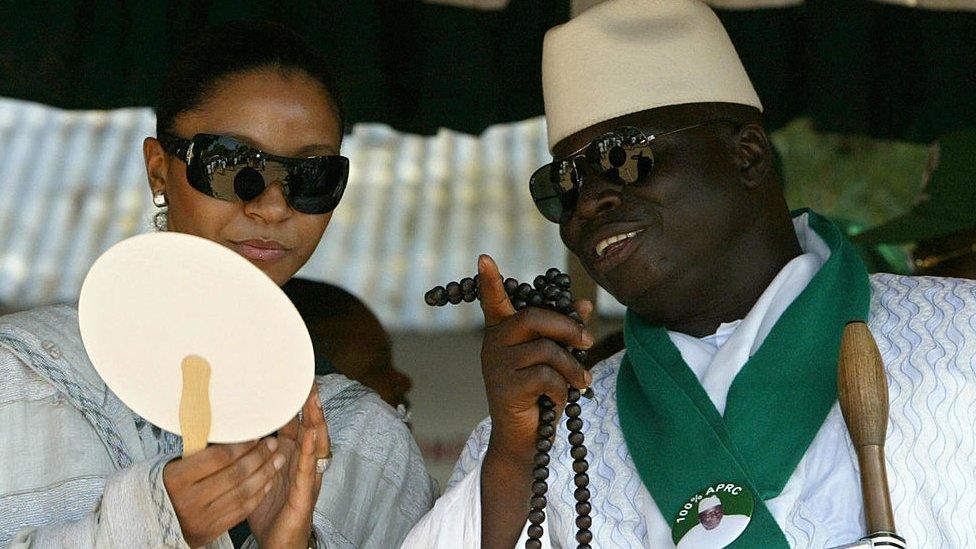 Zineb and Yahya Jammeh on 20 September 2006