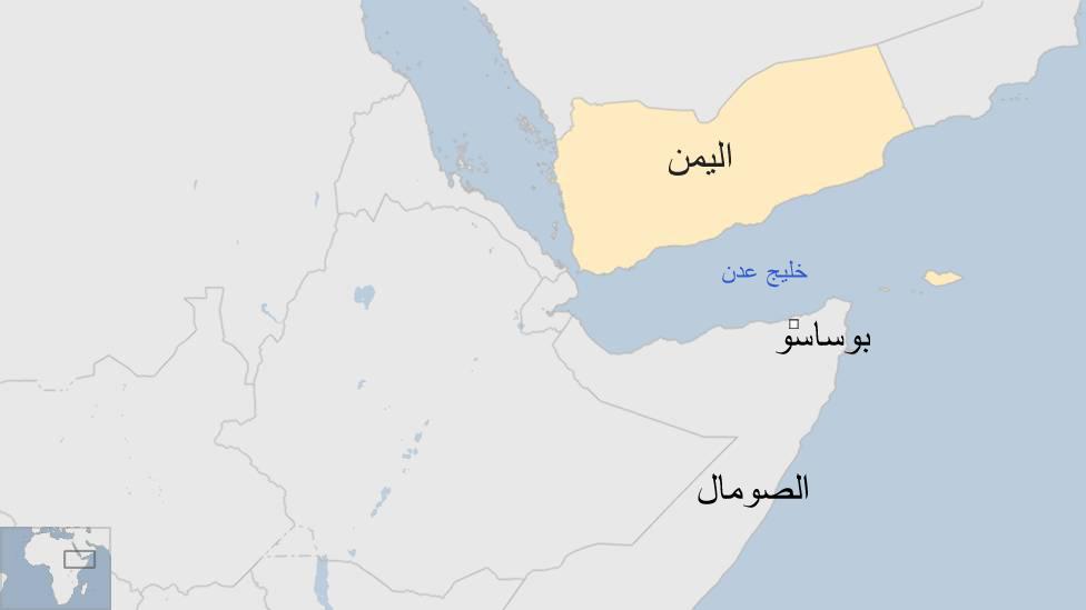 خريطة اليمن والقرن الإفريقي