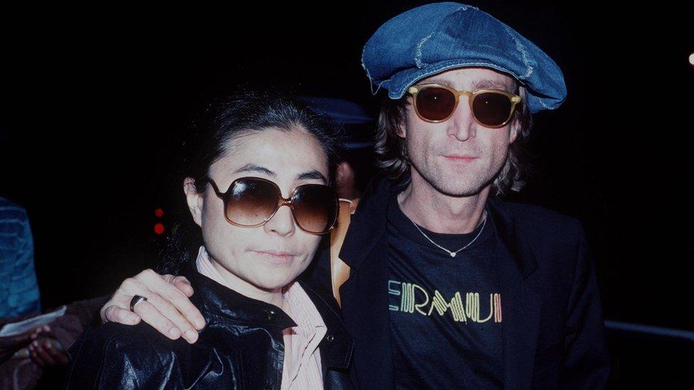 John Lennon and Yoko Ono not long before his death