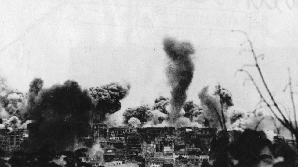 قصف جوي ياباني على مدينة تشونغتشينغ الصينية مسقط رأس شيا بيسو