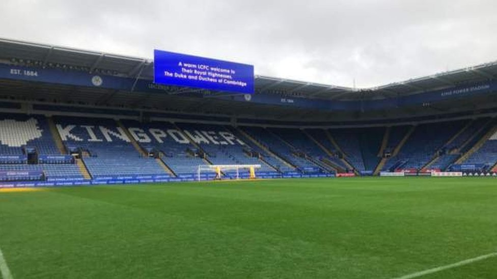 Inside King Power stadium
