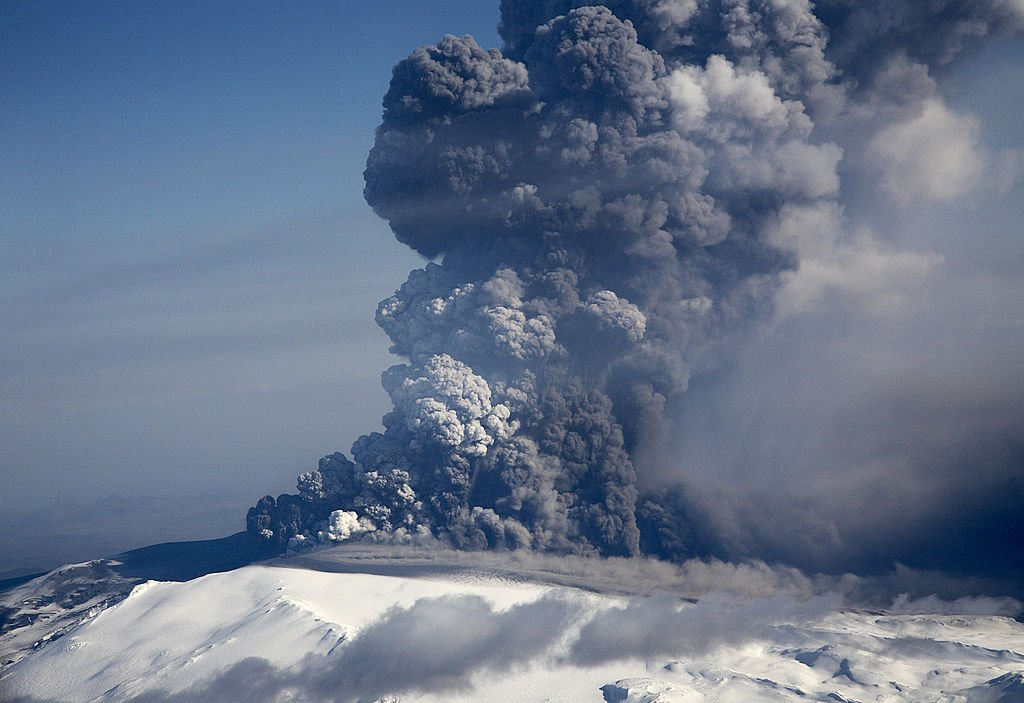 Erupción del volcán Eyjafjallajökull en 2010