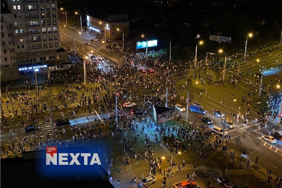 Imagen de las protestas de NEXTA Live