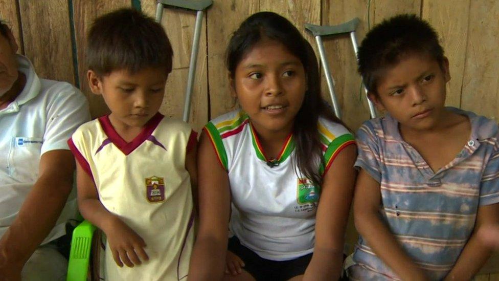 Children in Peru.