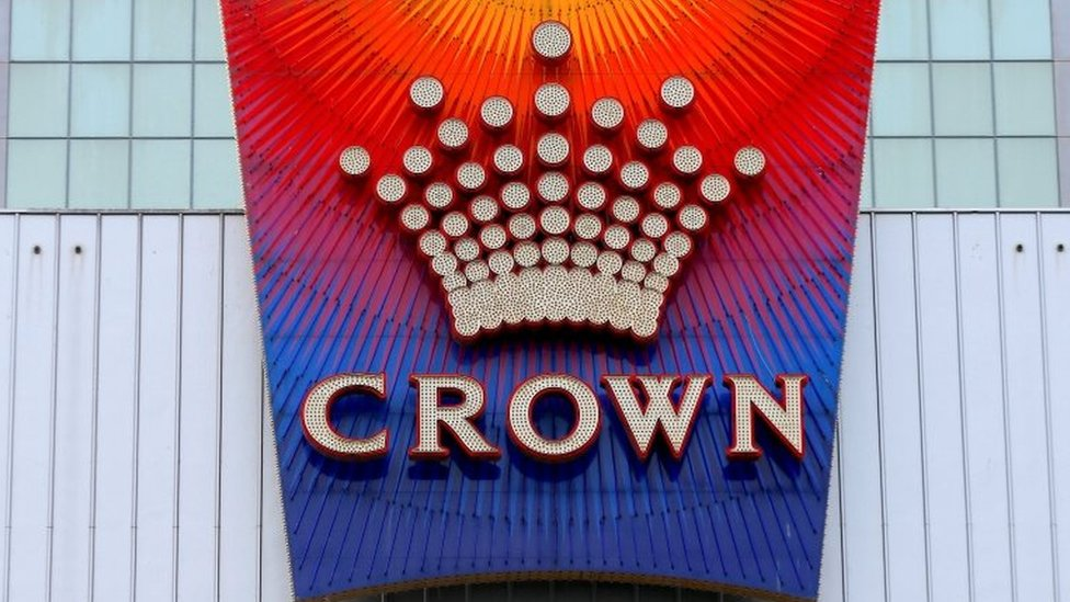 A logo for Crown Casino in Melbourne