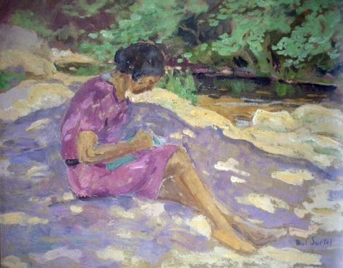Retrato de Dorothy Bonarjee pintado por su marido, Paul Surtel