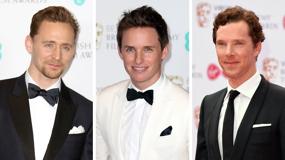 Tom Hiddleston, Eddie Redmayne and Benedict Cumberbatch