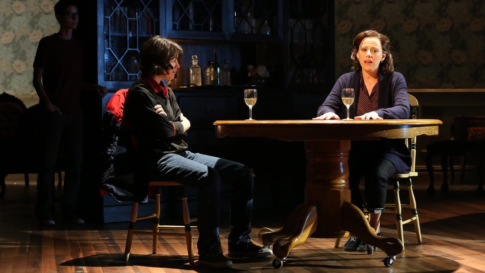 Judy Kuhn (right) in the Broadway production of Fun Home