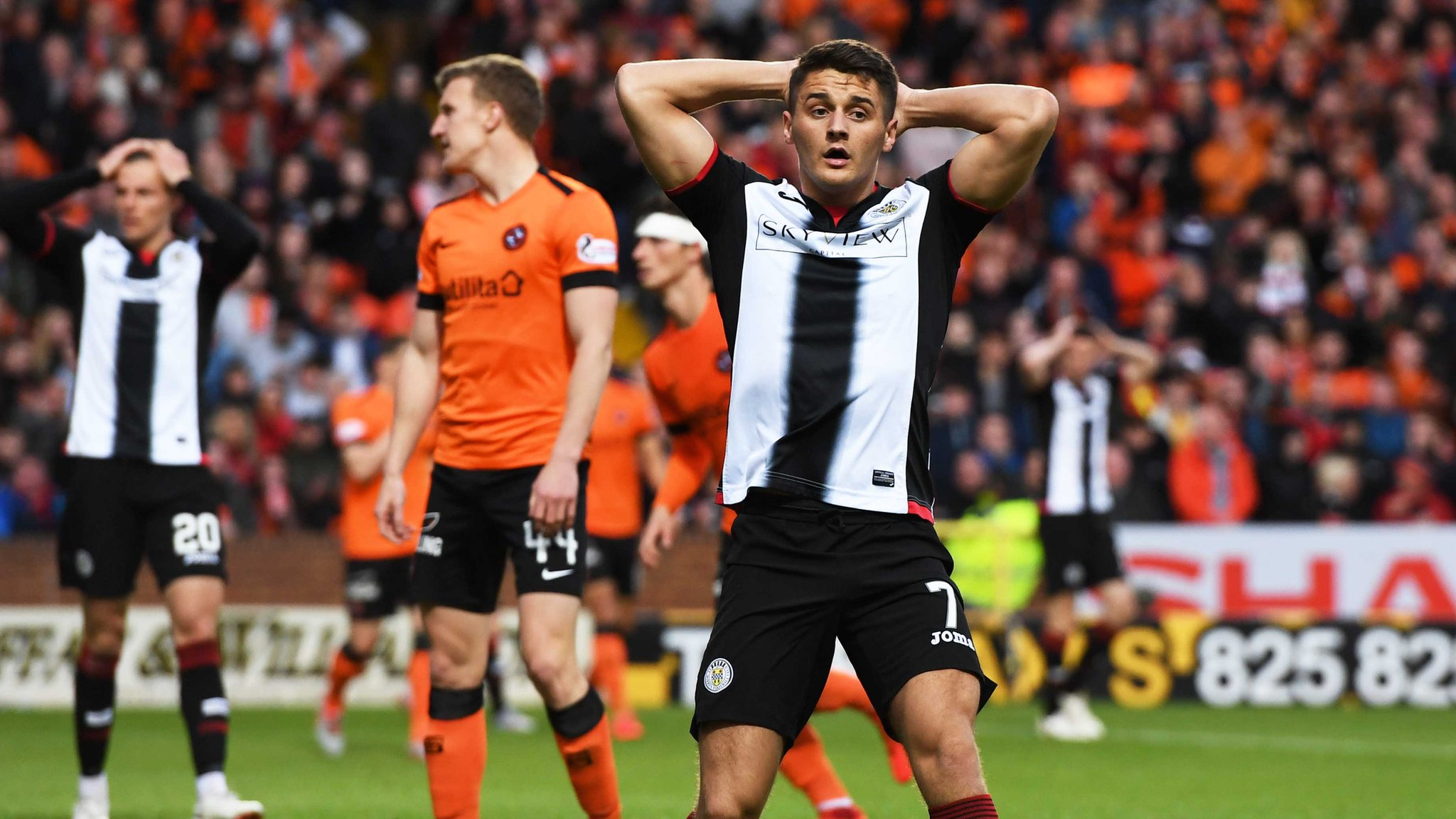 Dundee United 0-0 St Mirren: play-off final finely poised after stalemate