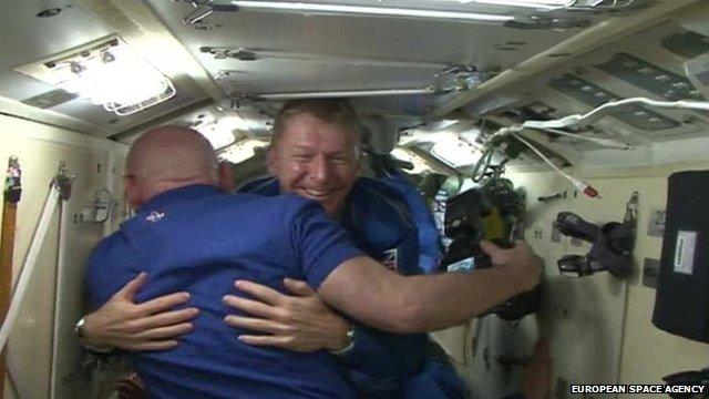 Tim Peake enters International Space Station