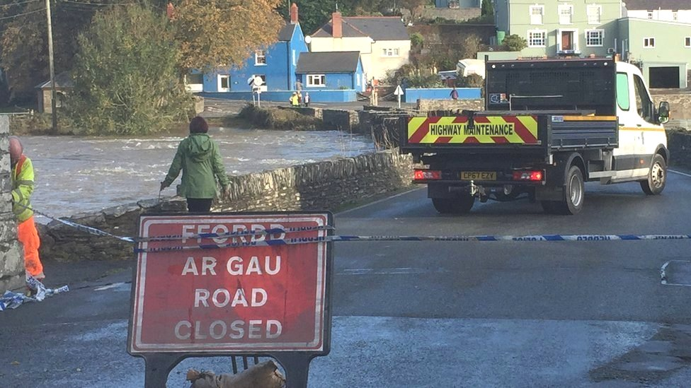 Storm Callum: Flood clean-up continues in Wales