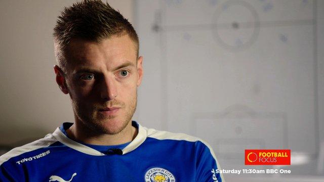 Leicester's Jamie Vardy speaks to Football Focus