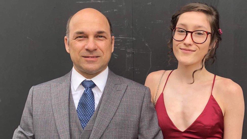 Dan Orlandea with his daughter Niah
