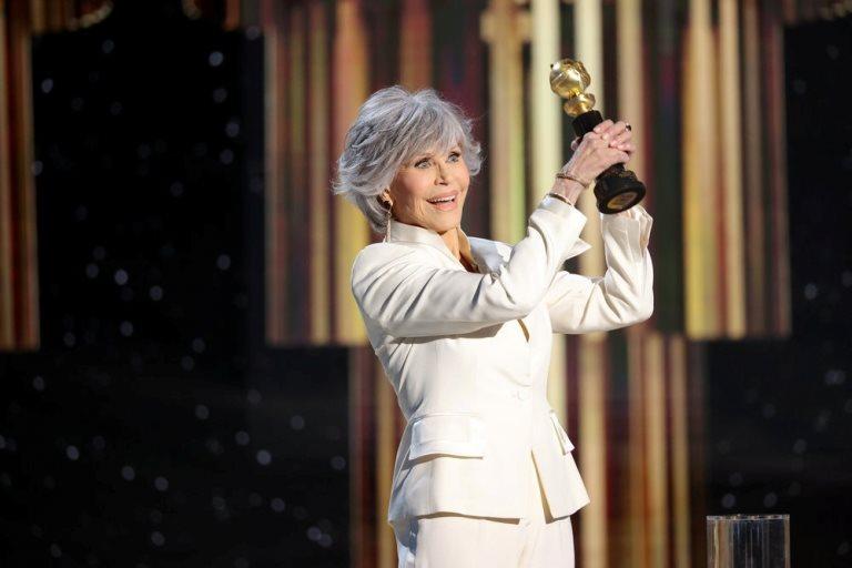 Jane Fonda ganó el premio honorífico Cecil B DeMille por su carrera artística.