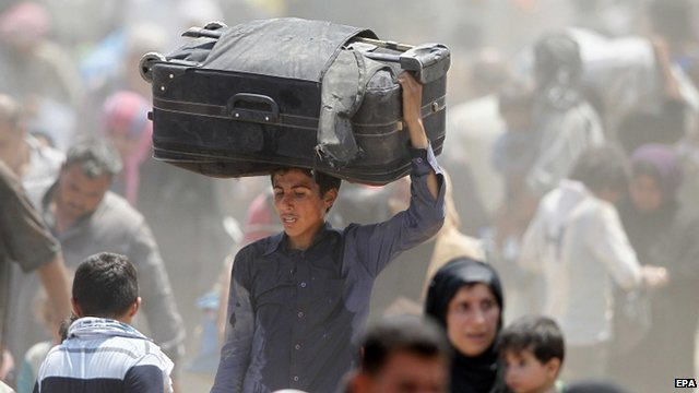 Refugees on the Syria-Turkish border