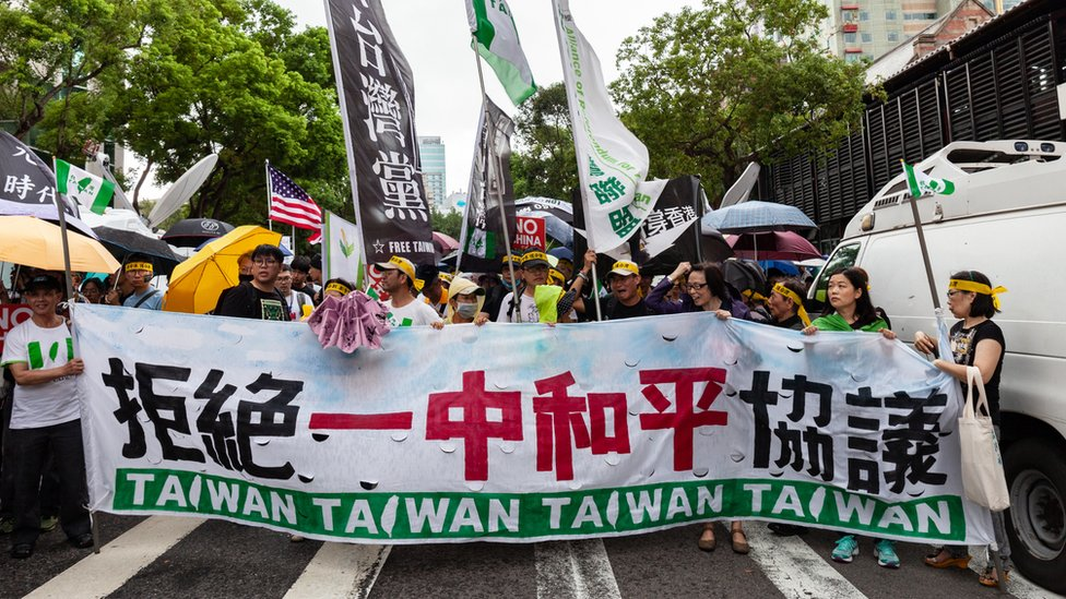 台灣青年團體遊行聲援香港「反送中」示威者(29/9/2019)
