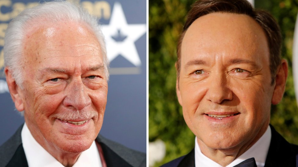 Christopher Plummer (L) and Kevin Spacey (R)