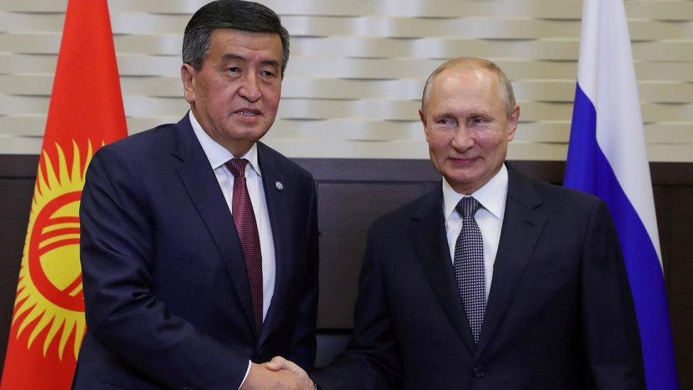 Jeenbekov y Putin