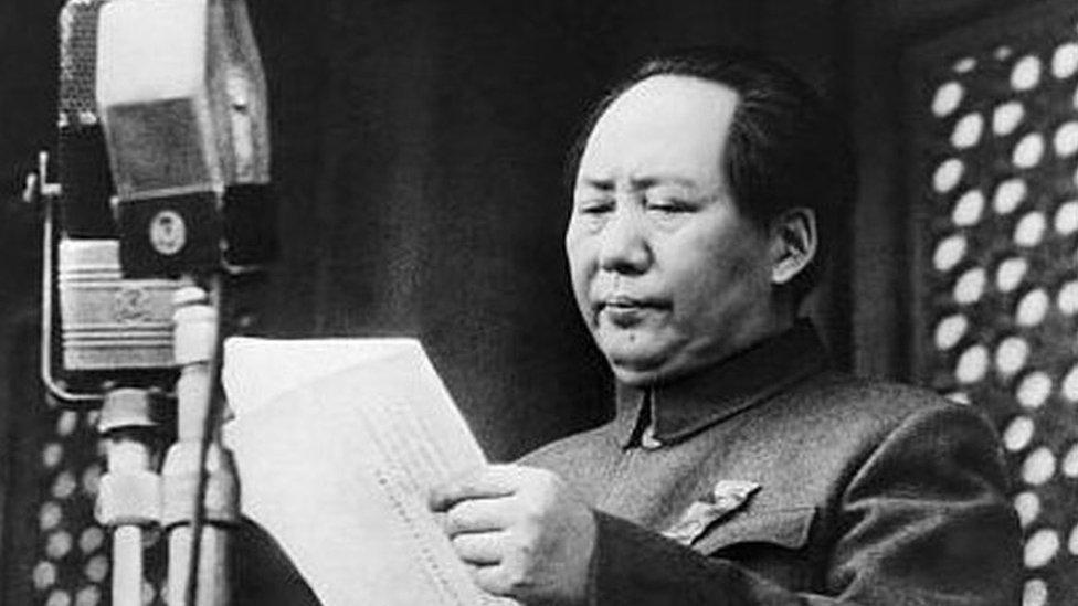ماو يعلن قيام جمهورية الصين الشعبية في عام 1949