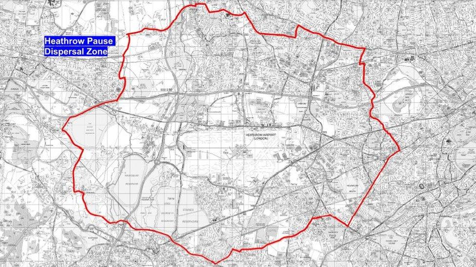 Heathrow dispersal zone