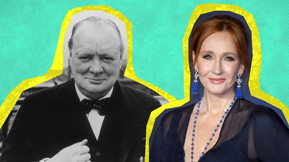 Winston Churchill y JK Rowling