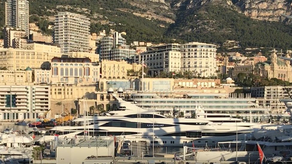 superyacht in port