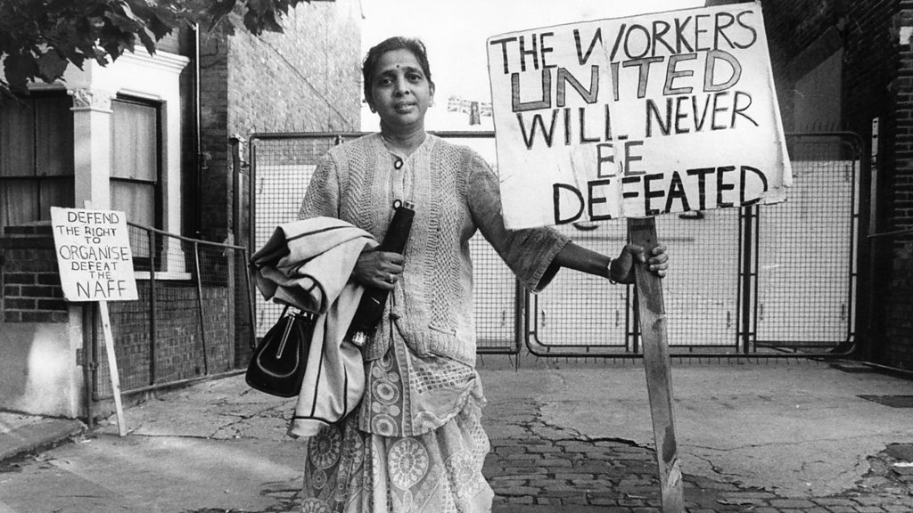 South Asian women who led a strike in a British factory