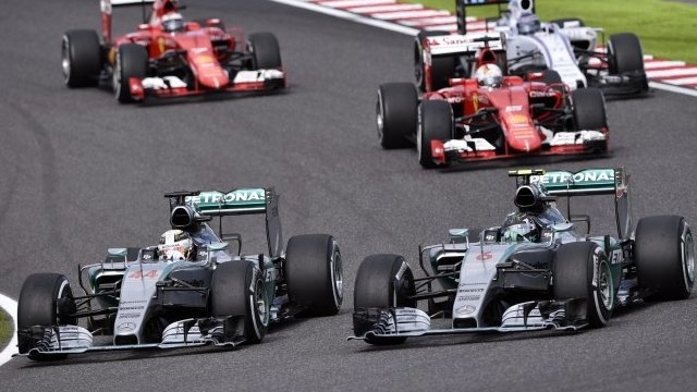 Lewis Hamilton passes Nico Rosberg